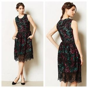 Wolven Terrace lace overlay floral sheath dress 2